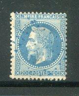 Y&T N°29B- Ancre Bleue - 1863-1870 Napoleone III Con Gli Allori
