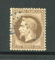 Y&T N°30- Ancre Bleue - 1863-1870 Napoleone III Con Gli Allori