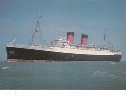 Postcard Mauretania 111 Cunard White Star Line Built 1939 Became Cruise Liner Reproduction My Ref  B22875 - Steamers