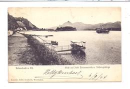 5480 REMAGEN - ROLANDSECK, Blick Auf Nonnenwerth Und Siebengebirge, 1904, - Remagen