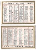 Calendario 1937 - Cartoleria A. Cinti, Bologna - Formato Piccolo : 1921-40