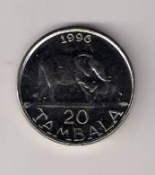 Malawi 20 Tambala 1996. UNC Elephant - Malawi