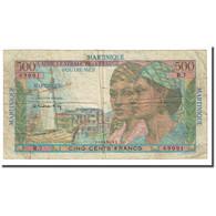 Martinique, 500 Francs, Undated (1947-49), B+, KM:32a - France