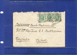 ##(ANT8)-1915-Busta Da Fonte Rutoli (Siena) Annullo Tondo Riquadrato (raro) Per Tagiura - Tripoli - Tripolitania - 1900-44 Vittorio Emanuele III