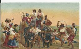 Italie Illustrateur  Agriculture   Arrivée Des Moissonneurs Dans Les Marais Pontains - Künstlerkarten