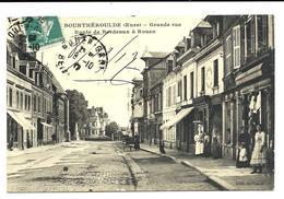 Village De BOURGTHEROULDE - Grande Rue - Commerces (1916) - Bourgtheroulde