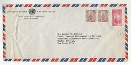 1950c UN In PHILIPPINES Airmail To UNITED NATIONS USA COVER Stamps Volcano Junior Chamber - Philippines