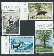 Italia 1967; Parchi Nazionali : Gran Paradiso, Abruzzo, Stelvio, Circeo. Serie Completa Di Bordo. - 1961-70: Mint/hinged
