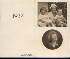 Calendrier De Poche 1937 (photo De La Reine Astrid Et Des Enfants Royaux) - Calendriers