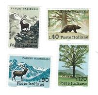 Italia, Italy 1967; Parchi Nazionali, Regional Nature Parks: Gran Paradiso, Abruzzo, Stelvio, Circeo. Completa; Nuovi. - Protezione Dell'Ambiente & Clima