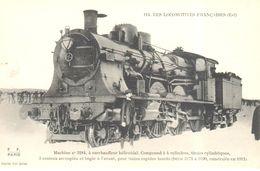 Thèmes - Transports - Chemins De Fer Les Locomotives Française - Machine N° 3184 - Trains