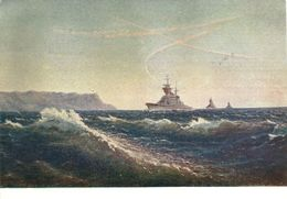 Artist. Titov. On The Black Sea Borders. Navy. Cruiser. Socialist Realism. THE USSR. 1957 Clean - Warships