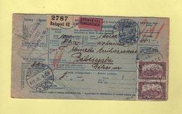 Hongrie - Budapest - Bulletin De Colis Postal En Contre Remboursement - 1921 - Paketmarken