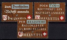 Schweiz 1942 // Mi. 405/407 O (027..263) - Gebraucht