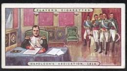Vieux Papiers > Chromos & Images > Non Classés JOHN PLAYER Cigarettes NAPOLEON ABDICATION N°25 - Non Classés