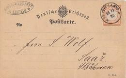 DR Karte EF Minr.18 K1 Leipzig P.A. Nr.2  24.11.73 - Lettres & Documents