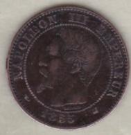 2 Centimes 1855 K Bordeaux - Chien. Napoléon III - France
