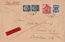 DR Brief Eilbote Mif Minr.2x 512,715,727 Berlin 5.1.40 - Deutschland