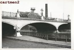 BRUXELLES PONT RUE LEON DELACROIX CANAL CHARLEROI PENICHE MAURITS CHANTIER TRAVAUX PUBLIC CONSTRUCTION GENIE CIVIL GRUE - Belgio