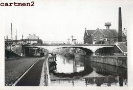 BRUXELLES PONT RUE LEON DELACROIX CANAL CHARLEROI PENICHE CHANTIER TRAVAUX PUBLIC CONSTRUCTION GENIE CIVIL GRUE - Belgio