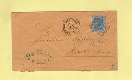 Italie - Livorno - Destination Massa - 1871 - 1861-78 Victor Emmanuel II