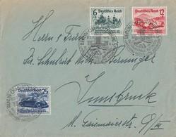DR Brief Mif Minr.686-688 SST Berlin 27.2.39 Gel. Nach Insbruck - Briefe U. Dokumente