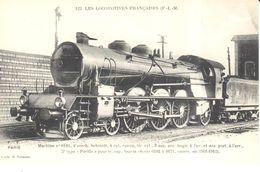 Thèmes - Transports - Chemins De Fer Les Locomotives Française - Machine N° 6110 - Treinen