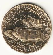 Medaille Arthus Bertrand 80.Peronne - Historial - Les Chars Blindés SD - Arthus Bertrand