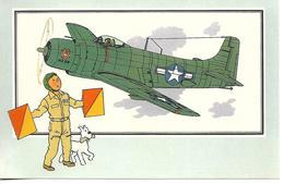 Voir Et Savoir Par Hergé. Aviation Guerre 1939 - 1945. Douglas Skyraider 1945 USA. Tintin Et Milou (Avion ) - Vieux Papiers