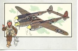 Voir Et Savoir Par Hergé. Aviation Guerre 1939 - 1945. Lockheed Lightning 1939 USA. Tintin Et Milou (Avion ) - Vieux Papiers
