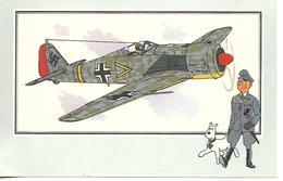 Voir Et Savoir Par Hergé. Aviation Guerre 1939 - 1945. Focke Wulf 1941 Allemagne. Tintin Et Milou (Avion ) - Vieux Papiers