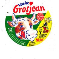 S. 641- ETIQUETTE DE FROMAGE-  VACHE GROS JEAN  12 PORTIONS - ASTERIX - Cheese