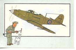 Voir Et Savoir Par Hergé. Aviation Guerre 1939 - 1945. Bell P-39 Airacobra 1939 USA. Tintin Et Milou (Avion ) - Vieux Papiers