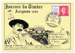 Carte Locale - Journée Du Timbre AVIGNON 1994 - Marianne De Dulac - 12.3.1994 - France