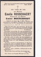 Impe, Wanzele, 1937, Emilie Rosschaert, Moerenhout - Images Religieuses