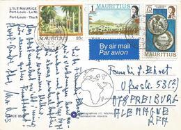 Mauritius 1980 Rose Hill Coins Landing British Botanical Garden Viewcard - Mauritius (1968-...)
