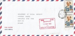 Mauritius 1992 Beau Bassin First Stamp On Stamp Barnard Cover - Mauritius (1968-...)