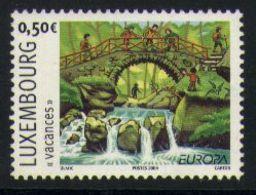 A07 - Luxembourg - 2004 - Holidays Bridge Water Children - Holidays & Tourism