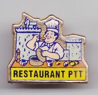 Pin's Restaurant PTT  La Rochelle En Charente Maritime Dpt 17 Cuisinier Réf 4016 - Villes