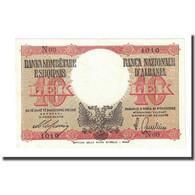 Billet, Albania, 10 Lek, Undated (1940), KM:11, SPL - Albanie