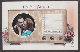 91796/ COUPLE En Médaillon, Radio, Années 40 - Couples