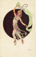 Illustrateur Dessin D. Gobbi  Art Deco Danseuse Romantic - Autres Illustrateurs