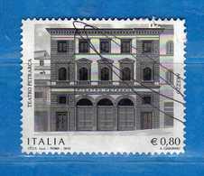 Italia °- 2015 - PATRIMONIO ARTISTICO, TEATRO PETRARCA   Unif. 3637 -   Vedi Descrizione. - 2011-...: Used