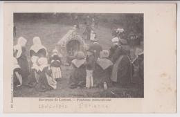 ENVIRONS DE LORIENT (56) : FONTAINE MIRACULEUSE - LANGUIDIC ? - SAINT-ETIENNE ? - ECRITE EN 1904 - 2 SCANS - - Lorient