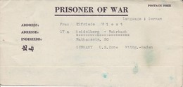 POW Kriegsgefangenenpost PWE 412 5th Lab. Supv. Area APO 21 Nach Heidelberg - 1946 (36185) - Vereinigte Staaten