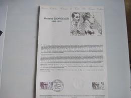 PREMIER JOUR D'EMISSION Roland DORGELES  23 Fév 1985 80 AMIENS  T.B.E. - Frankreich