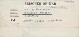 POW Kriegsgefangenenpost PWE 412 5th Lab. Supv. Area APO 772 Nach Heidelberg - 1946 (36186) - Vereinigte Staaten