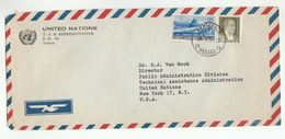 1955 UN In TURKEY Airmail COVER To  UN NY USA United Nations ,  Aviation Stamps - 1921-... Republic