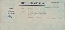 POW Kriegsgefangenenpost PWE 445 165th Lab. Supv. Center APO 21 Nach Heidelberg - 1946 (36189) - Vereinigte Staaten