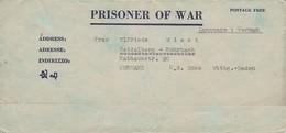 POW Kriegsgefangenenpost PWE 445 165th Lab. Supv. Center APO 21 Nach Heidelberg - 1946 (36190) - Vereinigte Staaten
